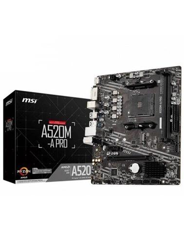 MSI A520M-A PRO AMD A520 4600MHz DDR4 Soket AM4 Micro ATX Anakart Renkli